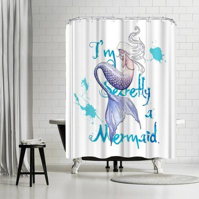 East Urban Home Sam Nagel Secretly A Mermaid Shower Curtain
