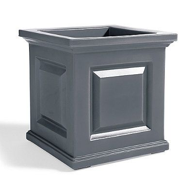 Create some curb-appeal magic with our classic Nantucket square planter beside your door has all the good looks of a raised-panel wood planter,    but will never crack, chip or peel. Filling it with topiaries or blooms is a snap you never reach for a paintbrush again.            Classic, square easy-care planter                Crafted from weather-defying, double-walled polyethylene, sculpted to resemble raised-panel wood                Integrated self-watering system simplifies plant car...