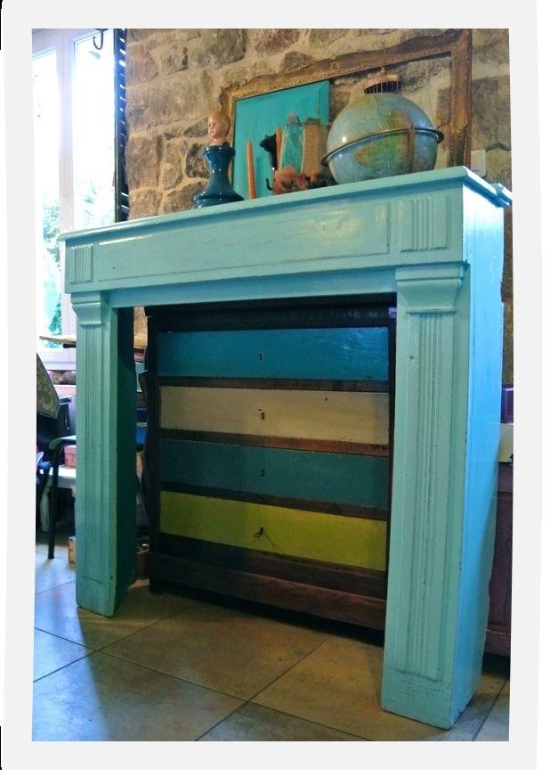 manteau de chemin e patin bleu indien chemin e. Black Bedroom Furniture Sets. Home Design Ideas