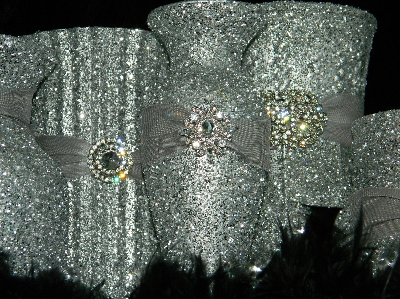 Best silver centerpiece ideas on pinterest