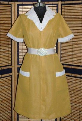 0a565d56fb15 Vintage Mod PinUp Bombshell Rockabilly Dress Diner Waitress Maid Uniform  1950s 60s