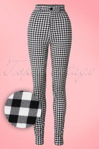 Collectif Clothing Maddie Gingham Trousers 131 14 17643 20160223 0003W1