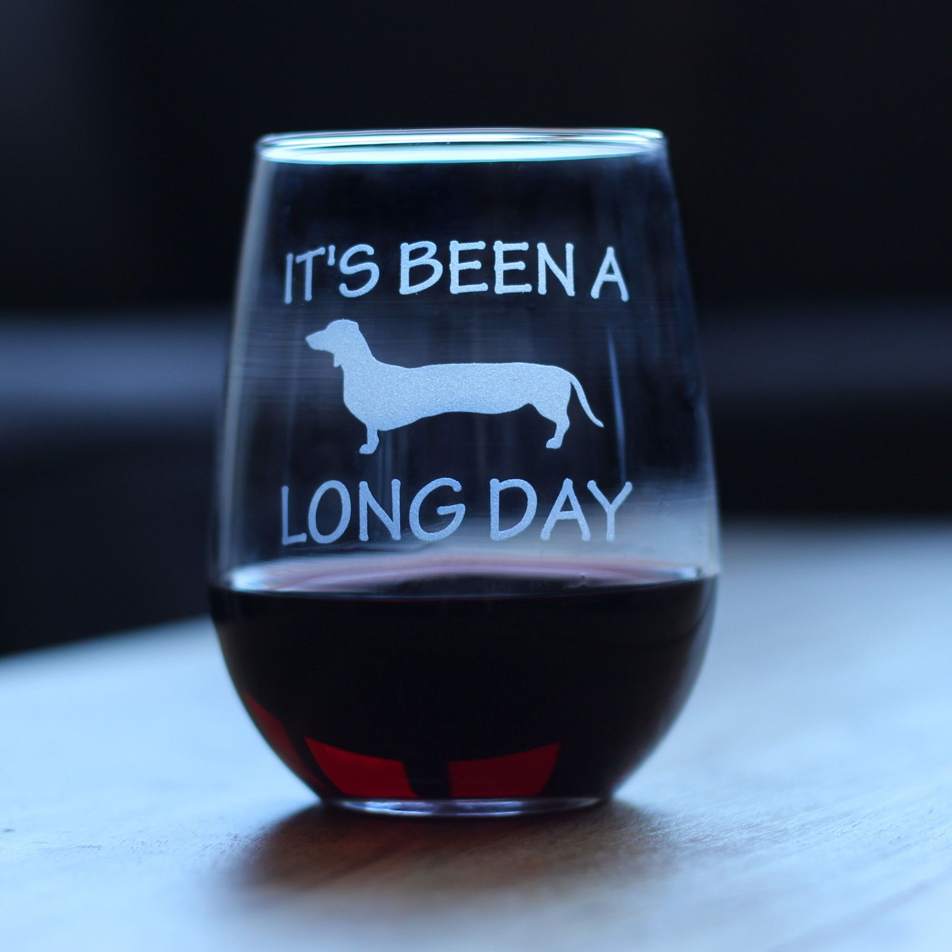 237ff393e90 It's Been A Long Day Dachshund Stemless Wine Glass | The perfect Christmas  gift for your favorite wiener dog mom | Hand etched in Colorado