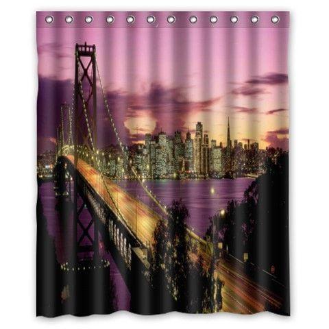 "New York City Waterproof Fabric 60 x 72"" Shower Curtain 19 Designs"