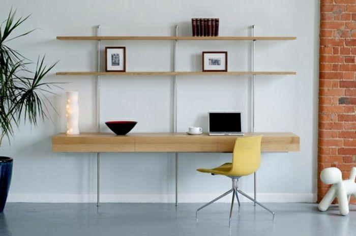 56 inspirierende Fotos von Schreibtisch mit Regal ...