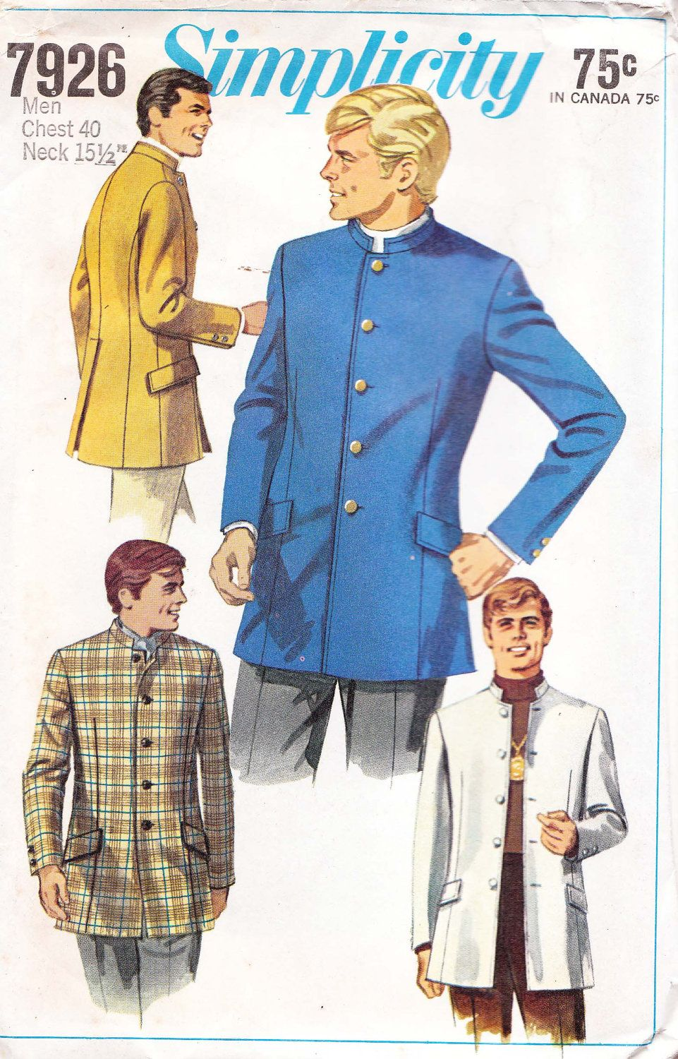 Mens jacket mandarin collar