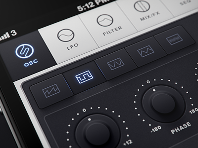Dribbble - Untitled iPhone synth app waveforms by Mikael Eidenberg