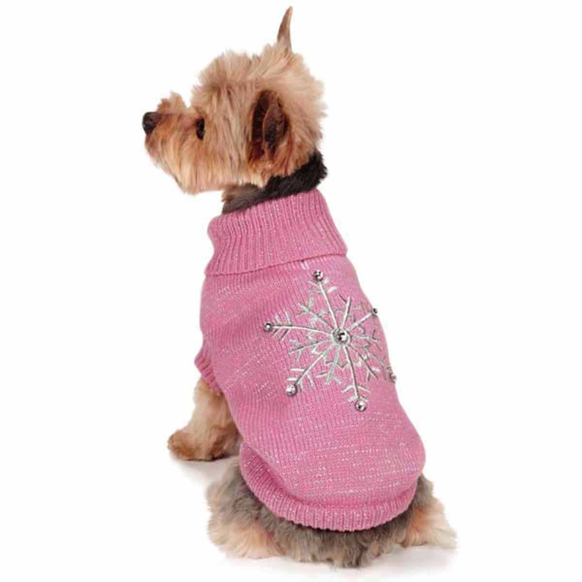 50dfe373e74a Zack and Zoey Shimmer Nights Snowflake Dog Sweater - …