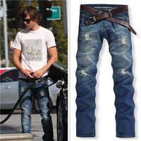 Hi Street Men's Slim Fit DSQ Jeans Slight Ripped Pants Mens Disel Jeans Cool Denim Trousers Only$22.65