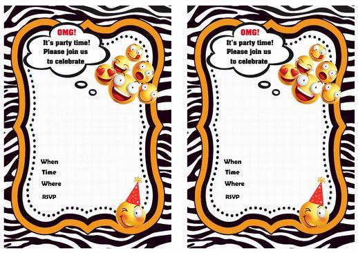 Emoji Birthday Invitations - Birthday Printable | Emoji ...