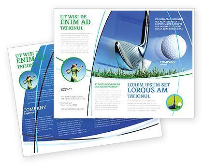 Golf Brochure Slight Bump In Golf Brochure Template Design And - Golf brochure templates