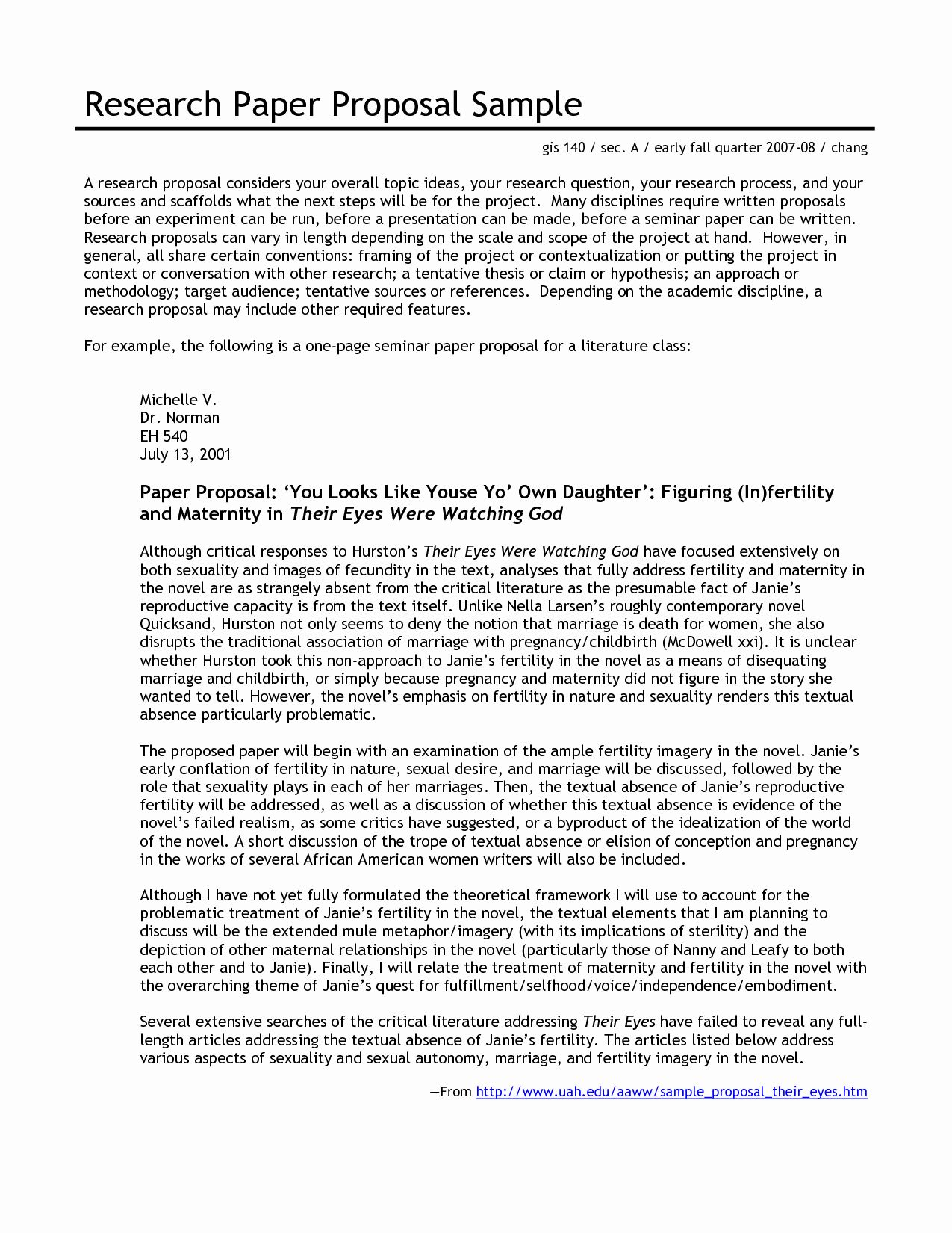 Undergraduate Research Proposal Examples Inspirational 12