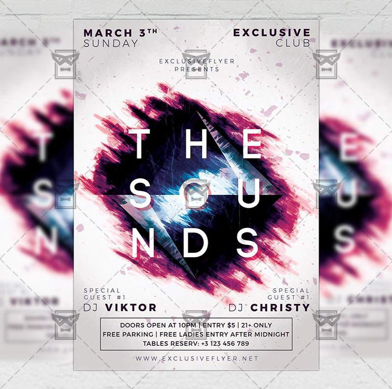 The Sounds Club A5 Flyer Template Exclusiveflyer Psd Freeflyer