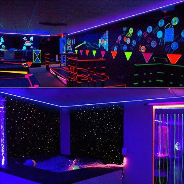 24w Flexible Blacklight Uv Lamp 12v Non Waterproof Led Uv Black Light Strip Onforuleds Glow Party Supplies Strip Lighting Uv Black Light