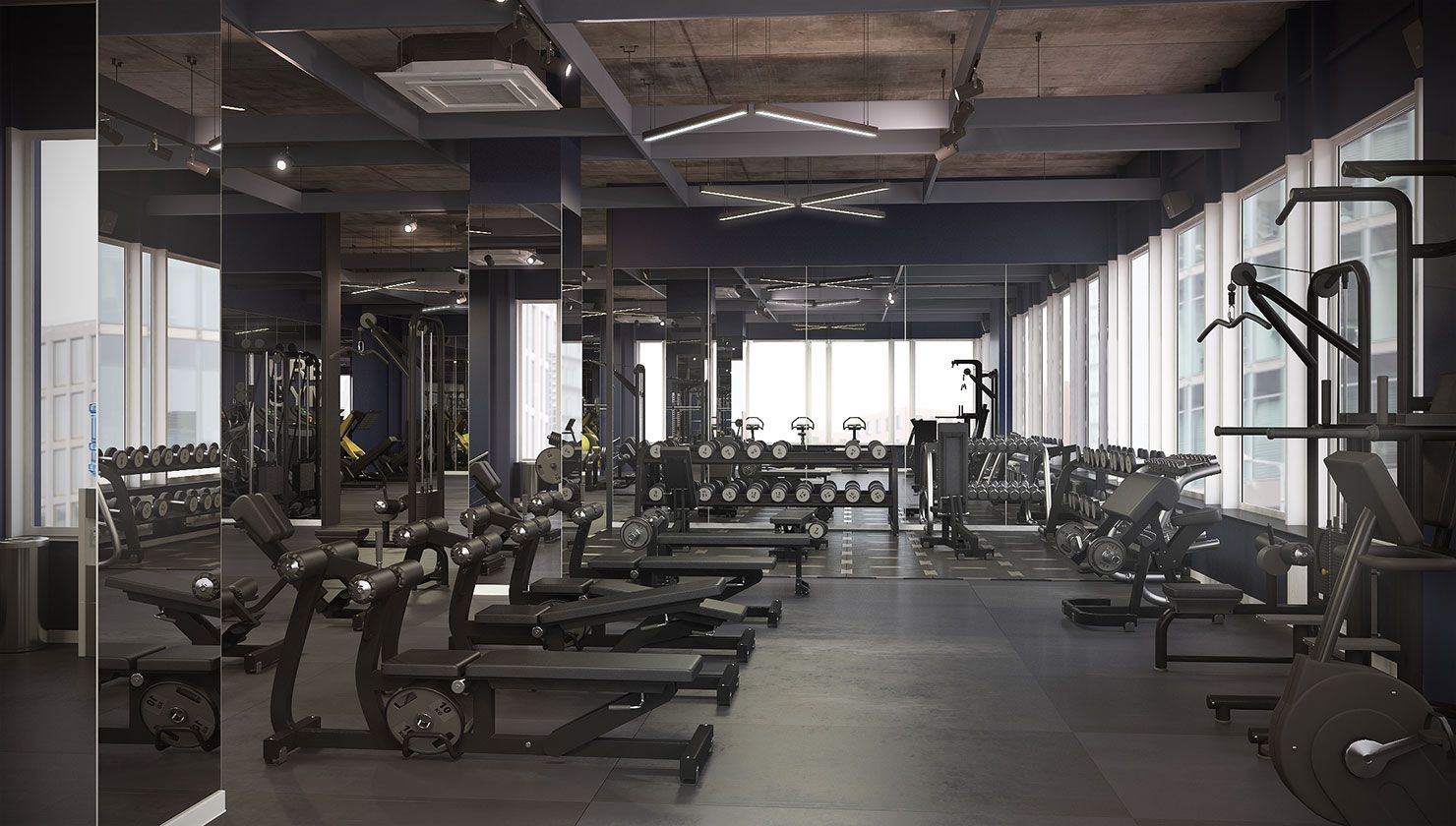 3d Model Of Gym Gym Workout Machines 3d Model