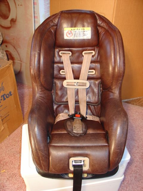 Evenflo Medallion 2000 Brown Leather Baby Car Seats