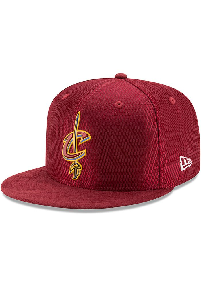 9f5db70302050c New Era Cleveland Cavaliers Mens Maroon NBA17 On Court Fitted Hat, Maroon,  POLYESTER, Size 7 3/4