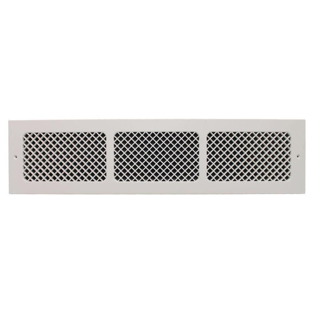 Smi Ventilation Products Essex Base Board 30 In X 6 In Opening 8 In X 32 In Overall Size Polymer Resin Decorative Return Air Grille White Ebb630 Polymer Resin Cold Air Return Air Return