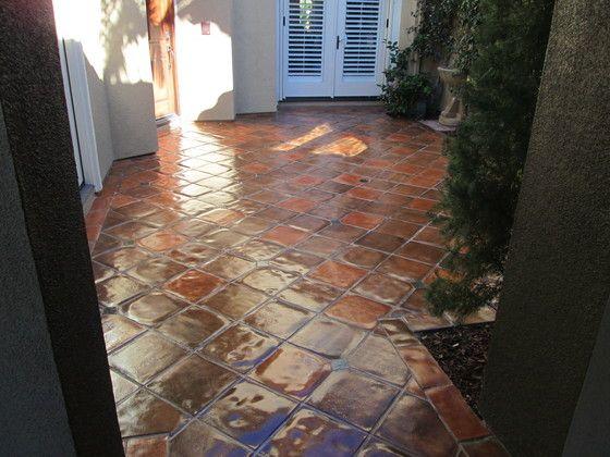Paver Floor Staining Color Match California Tile Restoration Patio Flooring Saltillo Tile Patio Tiles