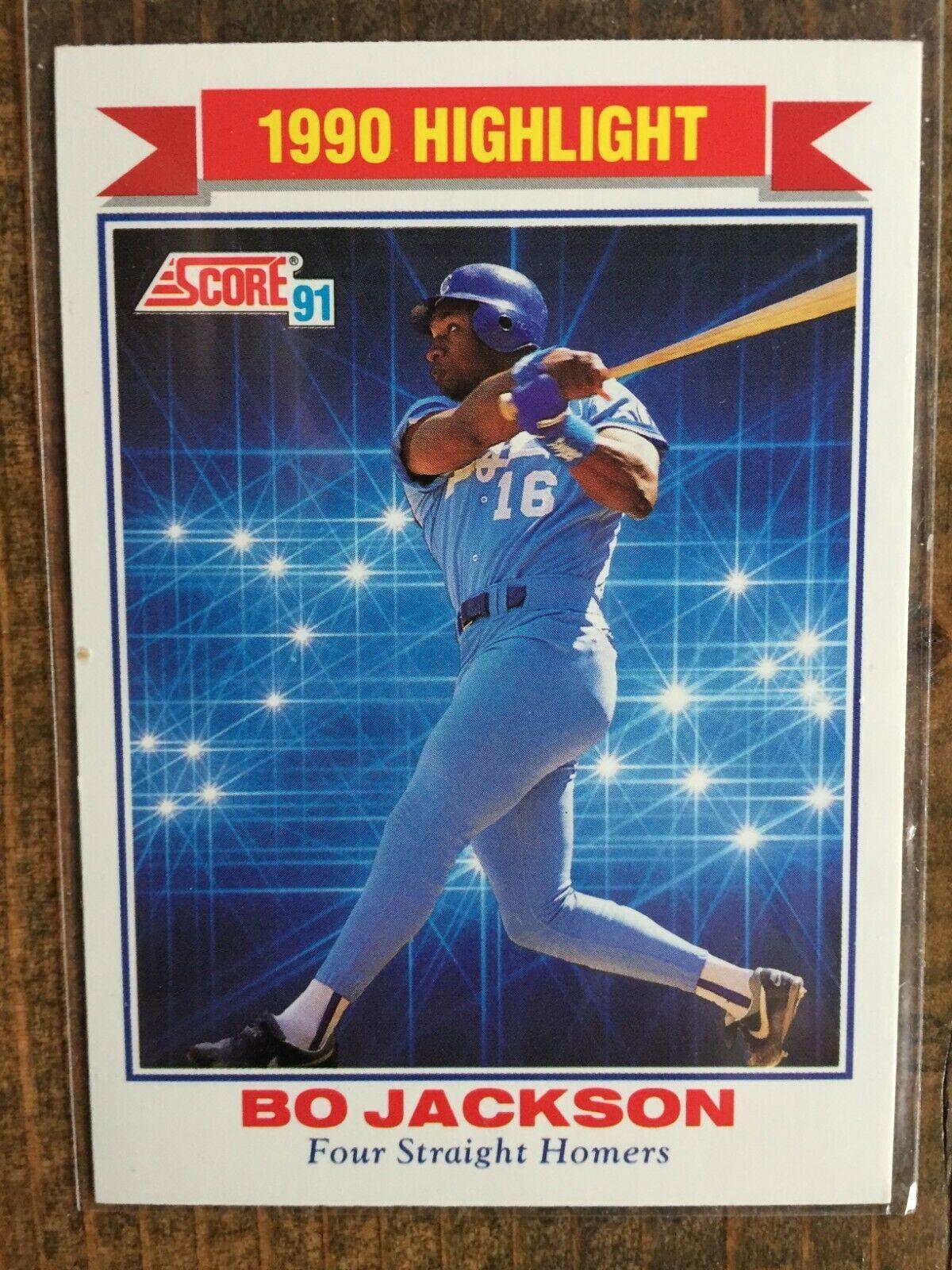 1991 score 420 bo jackson 4 straight homers highlight