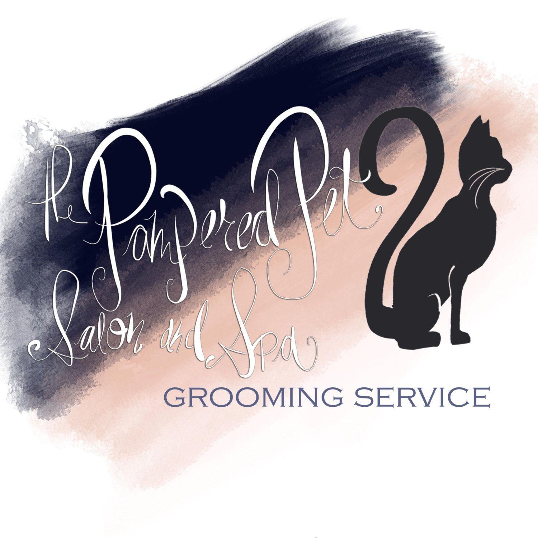 Premium Hand Drawn Logo - Peach and Navy by LisaMarieDesignsArt on Etsy