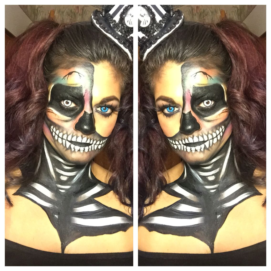 Rainbow Skull. Recreation from Makeup Forever Cosmetics
