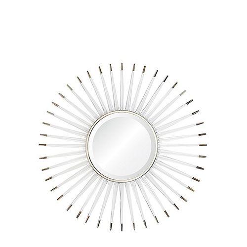 Acrylic & Nickel Starburst Mirror