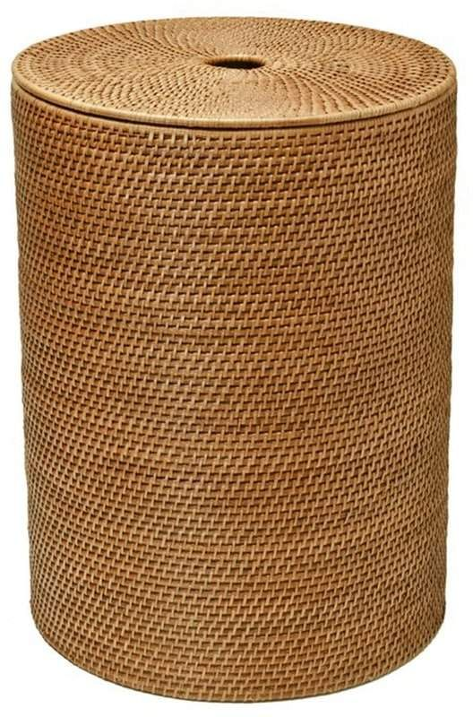 Kouboo Round Laundry Hamper Laundry Hamper Contemporary Hampers