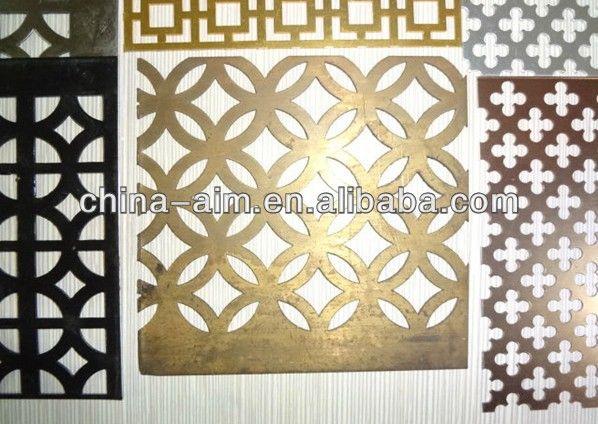 Nieuwe ontwerp decoratieve geperforeerde metalen plaat voor columns pinterest metals - Decoratieve platen ...