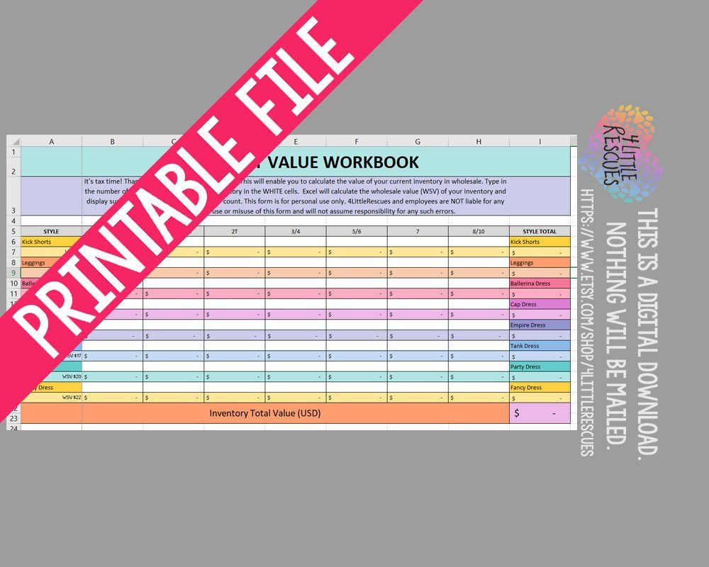 OUTDATED DDS Tax Assitant Excel Spreadsheet for Small