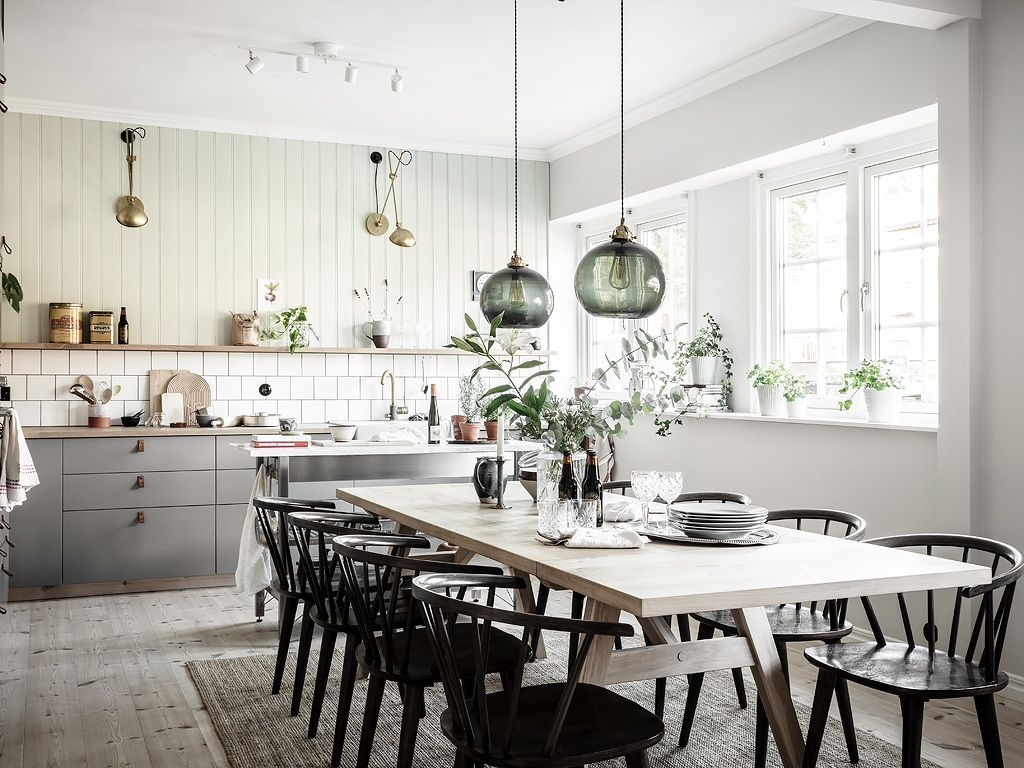 Cozy Kitchen With A Touch Of Green Coco Lapine Design In 2020 Swedish Kitchen My Scandinavian Home Kitchen Renovation