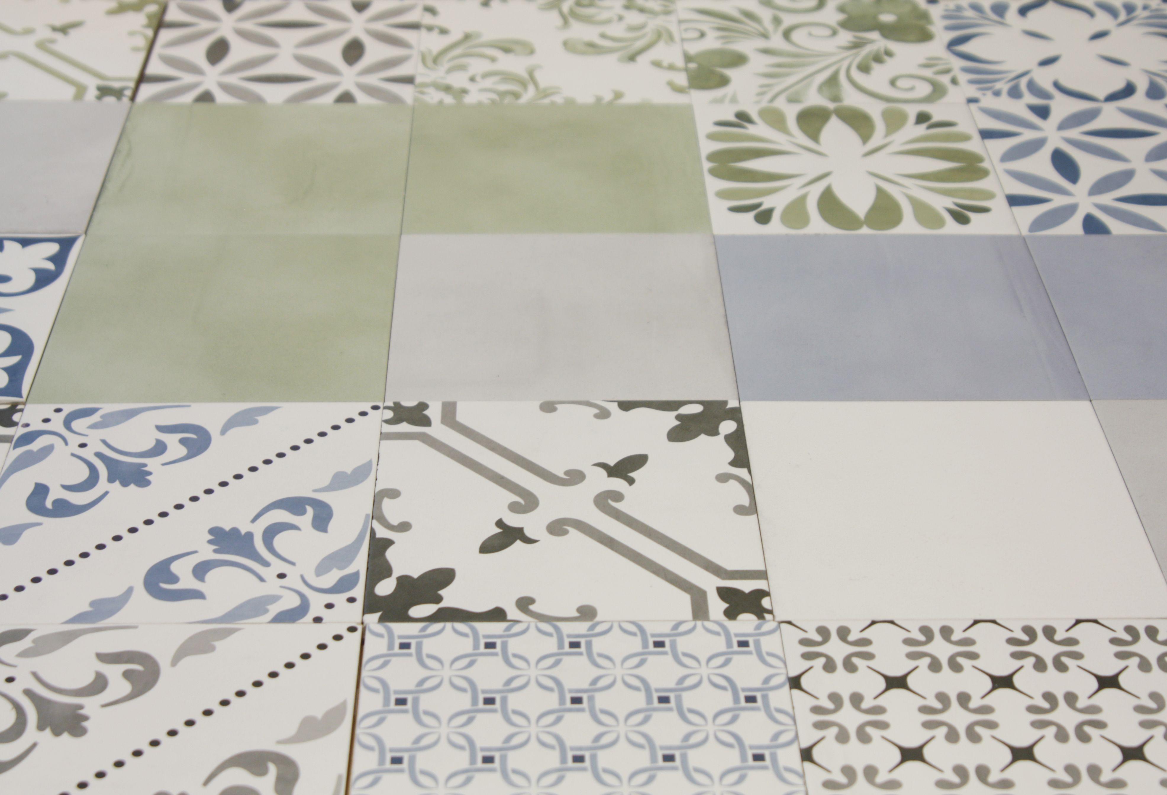 Tonalite aquarel nostalgia ceramica 1950s tiles