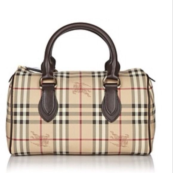 Burberry small Haymarket Bowling Bag price firm Used a