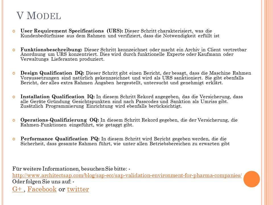 V Model | Wie SAP Kann bei der Schaffung von Validierungsumgebung ...