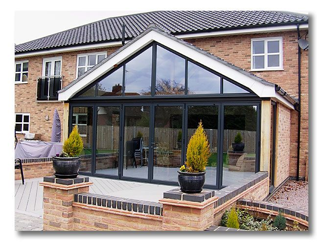 Triangle Folding Doors : Glass gable end google search bungalow extension ideas