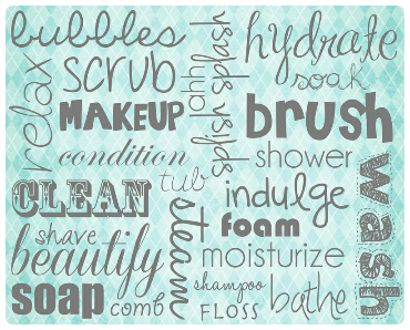 Merveilleux Free Bathroom Word Art To Download!