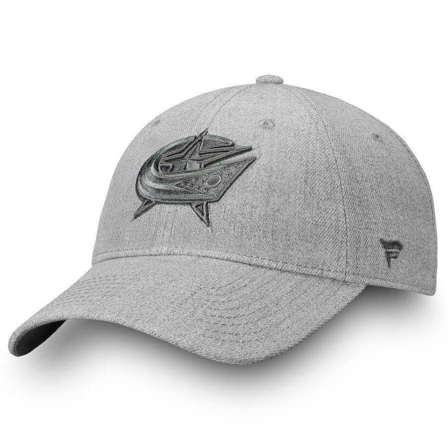 36f25a120b9 Men s Columbus Blue Jackets Fanatics Branded Gray Team Haze Adjustable  Snapback Hat
