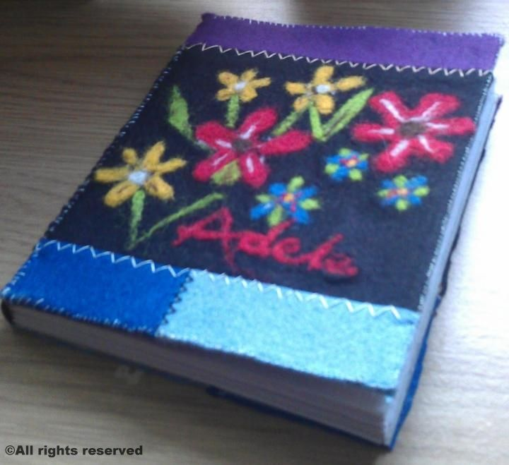 A handmade and hand binded sketch book I've made a friend