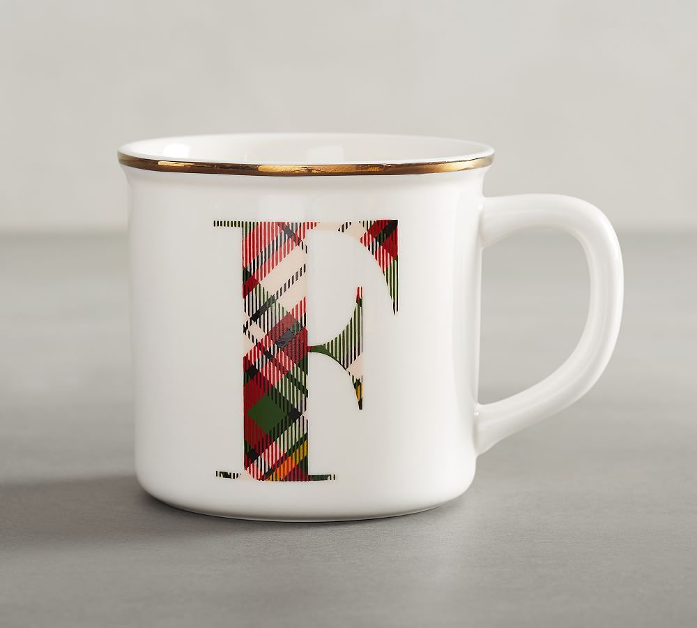 Plaid Alphabet Mug F Welcome From The Friesen S