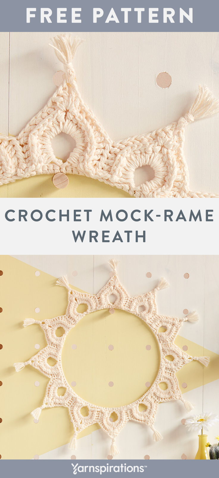Photo of Free Crochet Pattern | Yarnspirations | Lily Sugar'n Cream Yarn | Crochet Mock-R…