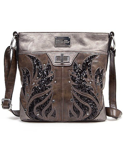19c916ba6a Miss Me Distressed Crossbody Purse - Women s Bags