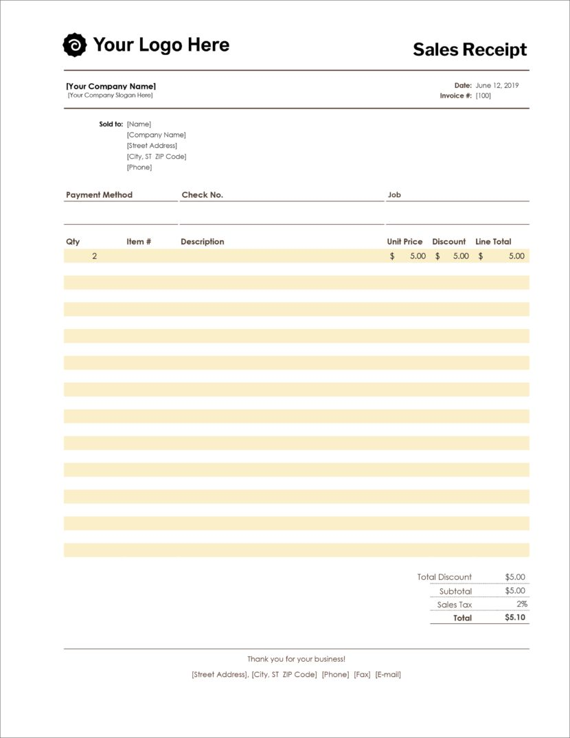16 Free Receipt Templates Download For Microsoft Word Excel And Google Sheets Free Receipt Template Invoice Template Receipt Template