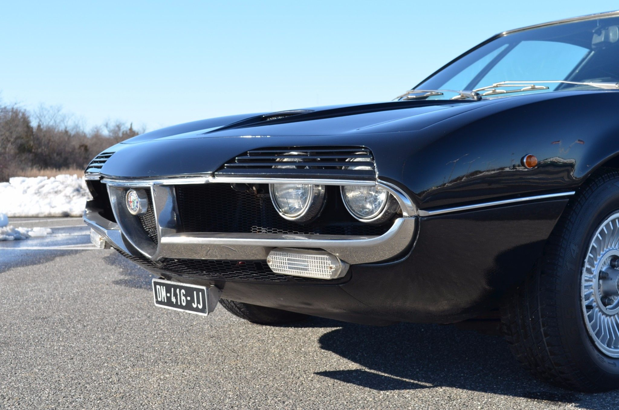 This 1971 Alfa Romeo Montreal shows 90k kilometers 56k miles and