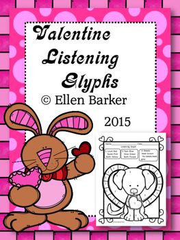 Need a great set of listening glyphs to use as a back up on days when you feel kind of crummy but you can't be absent? Are you needing to fulfill a listening requirement and want some tangible proof to show parents or your principal what your students are learning?These Valentine listening glyphs can really fit the bill!