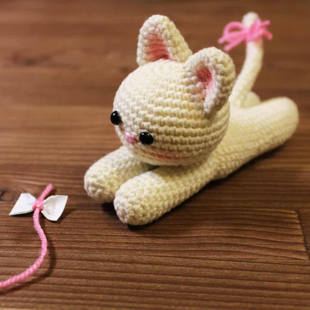 Lying Kitten Amigurumi Pattern Amigurumi Today Crochet Cat Pattern Crochet Animal Patterns Crochet Patterns Amigurumi