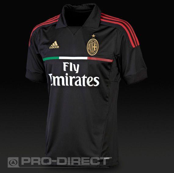 9788707fc9c adidas AC Milan 3rd 11/12 SS Football Shirt - Black/Red | Sports ...