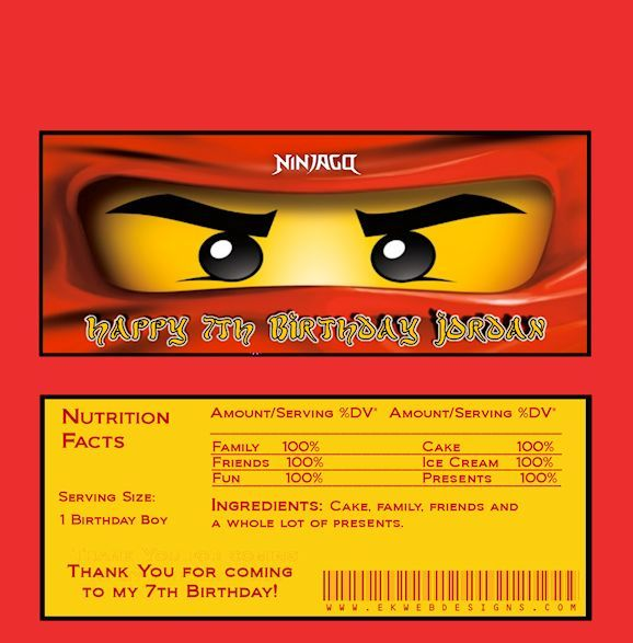 Ninjago candy bar wrappers made to match invitations ninjago ninjago candy bar wrappers made to match invitations stopboris Choice Image