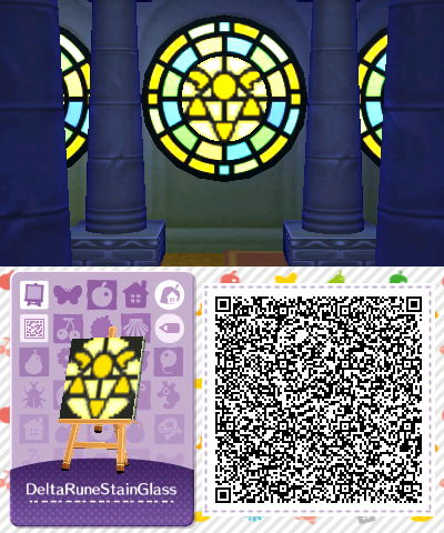 Undertale Delta Rune Stained Glass Qr Animal Crossing Qr Codes