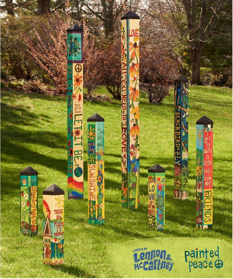 Let It Be 6 Art Pole Art Pole Garden Poles Peace Pole
