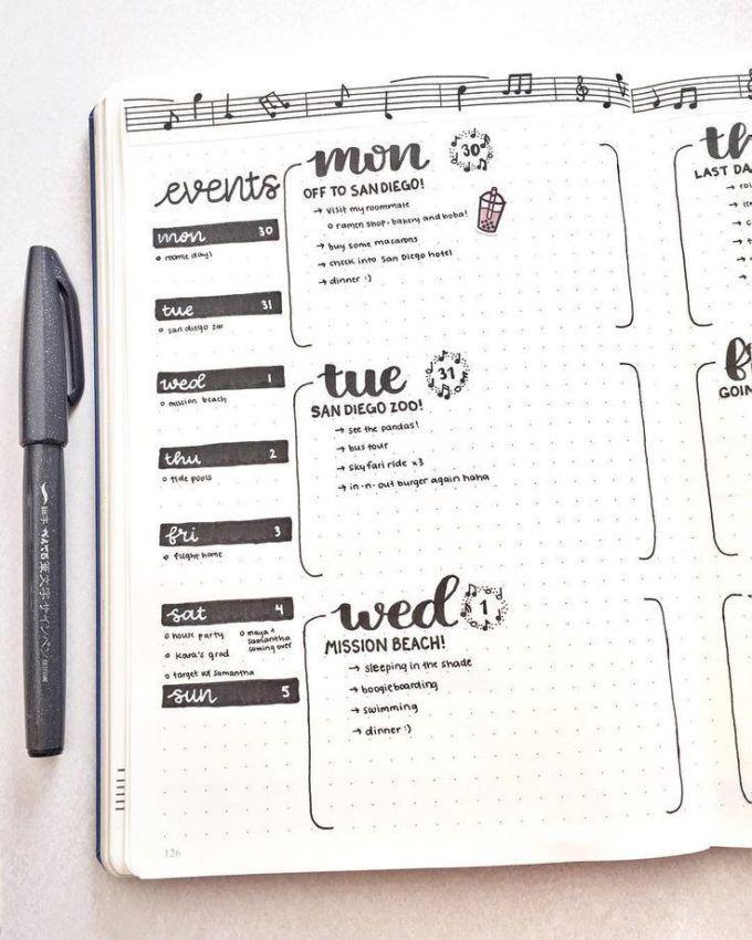 Comment faire un bullet journal : tuto - Blog Déco - ClemAroundTheCorner